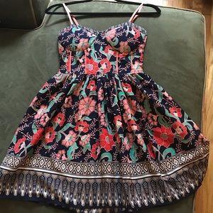 Floral print sundress with adjustable straps